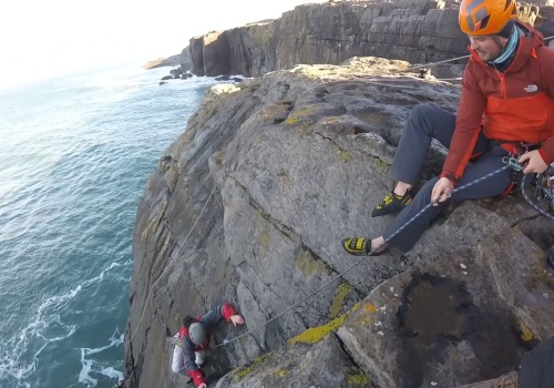 Sea Cliff Climbing Adventure